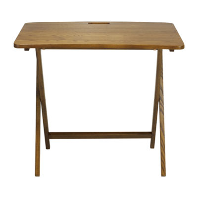 American Trails Arizona Folding Table with Solid American Red Oak