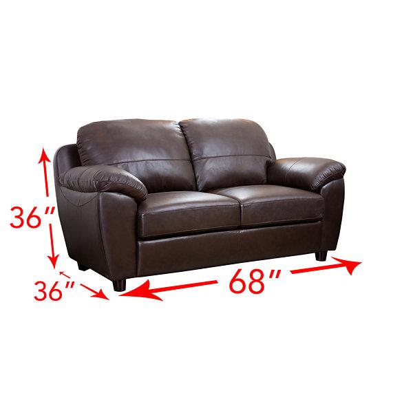 Awesome Aria Leather Sofa + Loveseat Set