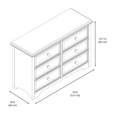 Graco Brooklyn 6 Drawer Nursery Dresser