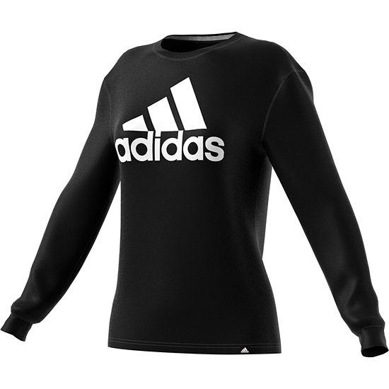 adidas Adidas Badge Of Sport Long Sleeve Crew Neck T-Shirt-Womens