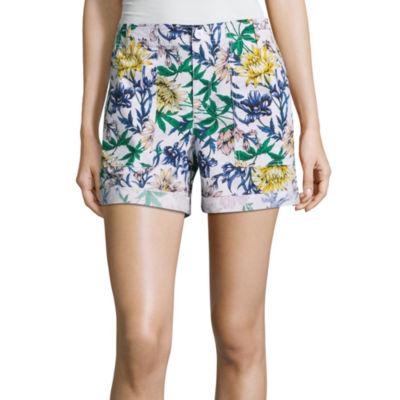 "Liz Claiborne 5"" Poplin Cargo Shorts"