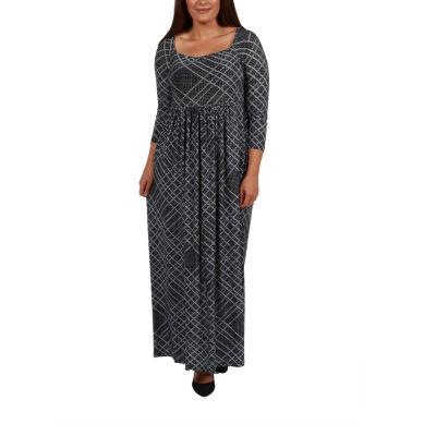 24/7 Comfort Apparel Maxi Dress-Plus