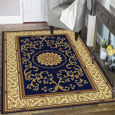 Noble Medallion Traditional Oriental Area Rug
