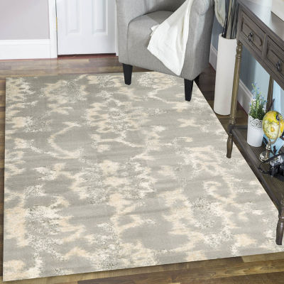 Castle Modern Abstract Floral Area Rug