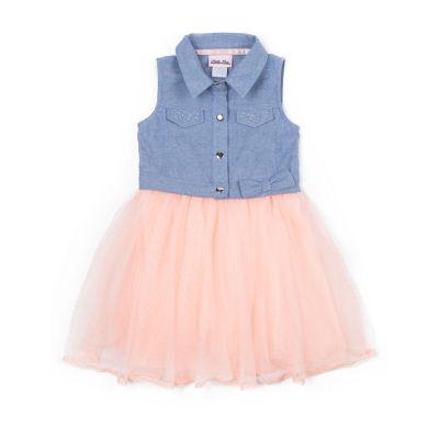 Little Lass Sleeveless Tutu Dress Girls