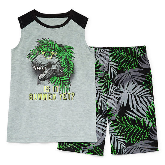 Arizona Boys 2-pc. Shorts Pajama Set Preschool / Big Kid
