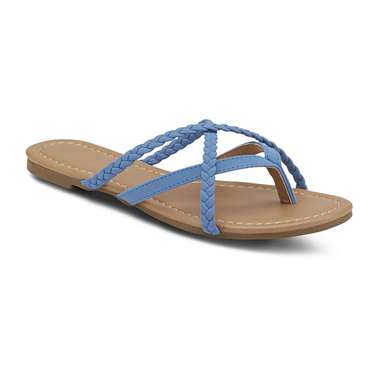 Mixit Womens Strappy Thong Flip-Flops