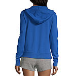 Flirtitude Womens Long Sleeve French Terry Hoodie-Juniors