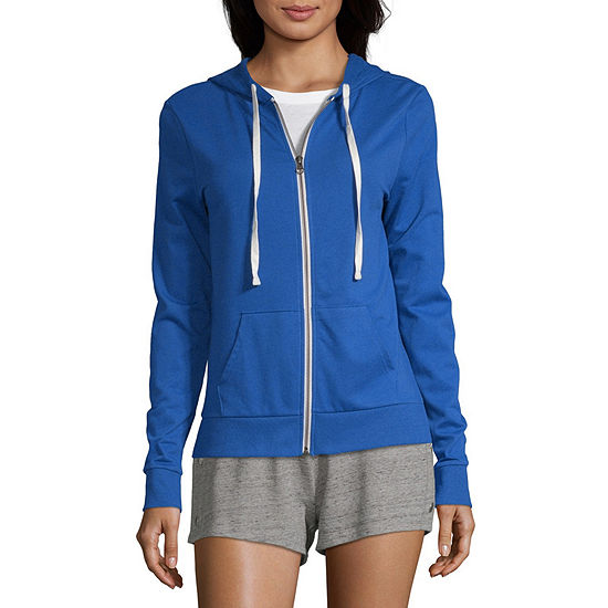 Flirtitude-Juniors Womens Long Sleeve French Terry Hoodie