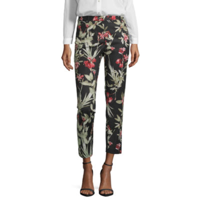 Liz Claiborne Tropical Safari Womens Classic Fit Ankle Pant