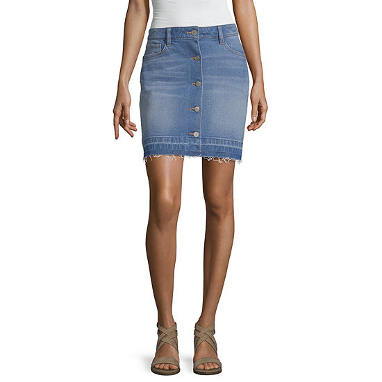 a.n.a Womens High Waisted Short Denim Skirt
