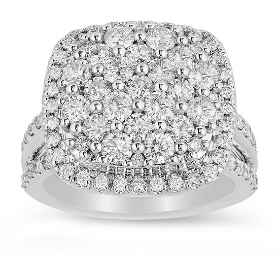 LIMITED QUANTITIES! Womens 2 1/2 CT. T.W. Genuine White Diamond 14K White Gold Engagement Ring