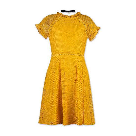 Speechless Girls Short Sleeve Skater Dress - Preschool / Big Kid