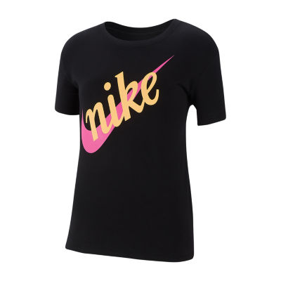 Nike Crew Neck Short Sleeve Graphic T-Shirt - Big Kid Girls
