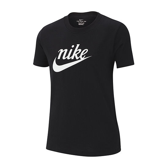 Nike Girls Round Neck Short Sleeve Graphic T-Shirt - Big Kid