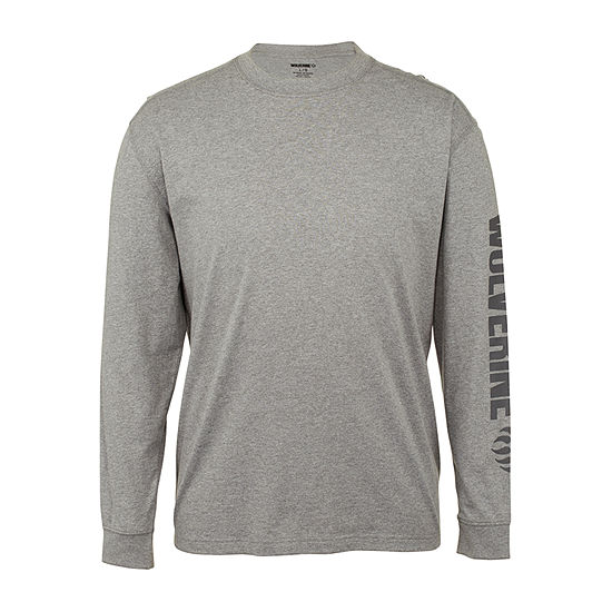 Wolverine Mens Crew Neck Long Sleeve Moisture Wicking T-Shirt