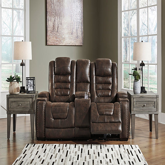 Signature Design by Ashley® Game Zone Power Reclining Loveseat with Console