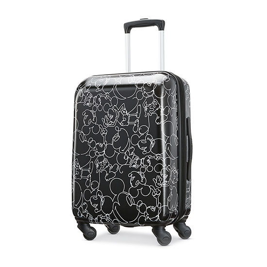 American Tourister Disney Mickey Mouse Scribbler 21 Inch Hardside Lightweight Luggage
