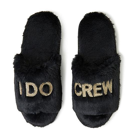Dearfoams  I Do Crew Slide Womens Slip-On Slippers