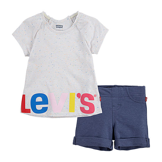 Levi's Toddler Girls 2-pc. Short Set