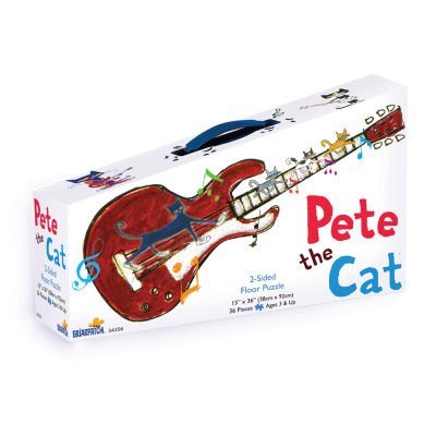 Briarpatch Pete the Cat 2-Sided Floor Puzzle Suitcase: 36 Pcs