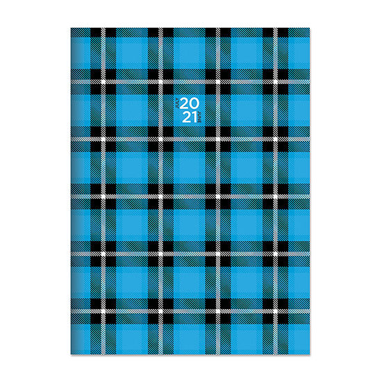 "Tf Publishing July 2020 - June 2021 Plaid Attitude Medium 7.5"" X 10.25"" Monthly Planner"