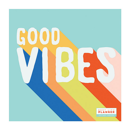 "Tf Publishing July 2020 - June 2021 Good Vibes Best Life Large 12"" X 12"" Monthly Planner"