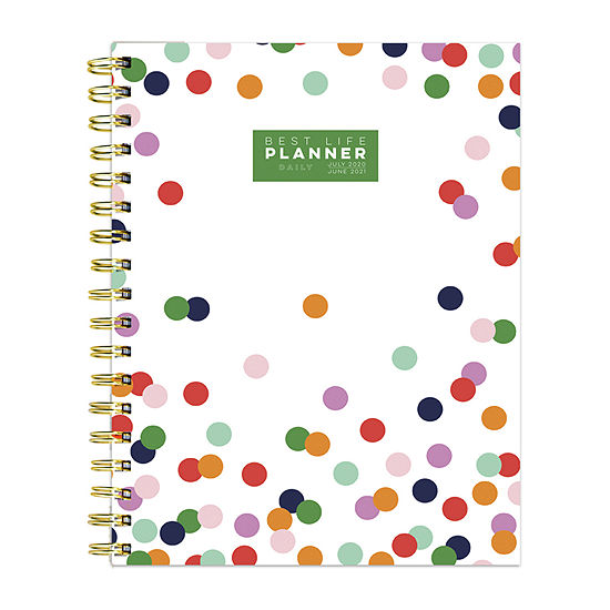 """Tf Publishing July 2020 - June 2021 Polka Preppy Dot Best Life 7"""" X 9"""" Daily Luxe Planner"""