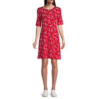 JCPenney deals on St. Johns Bay Short Sleeve Geometric Swing Dresses