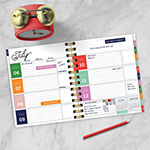 "Tf Publishing July 2020 - June 2021 Floral Stitches Best Life 7"" X 9"" Daily Weekly Monthly Luxe Planner"