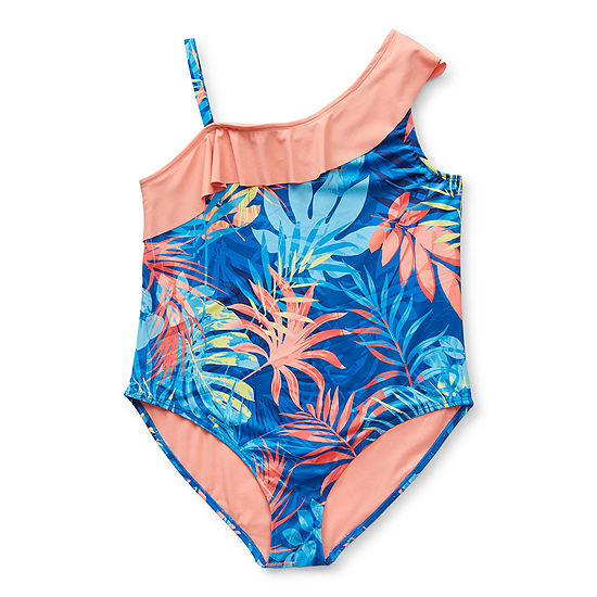 Peyton & Parker Little & Big Girls Leaf One Piece Swimsuit