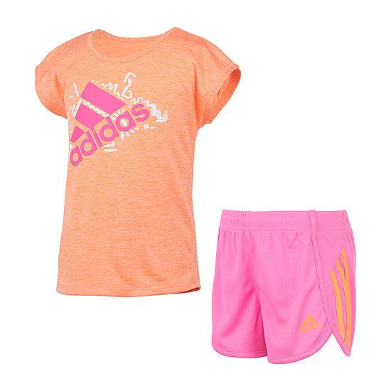 adidas Toddler Girls 2-pc. Short Set