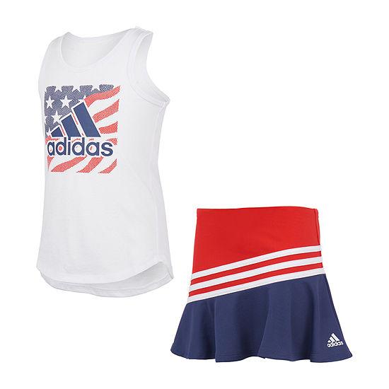 adidas Americana Toddler Girls 2-pc. Skort Set