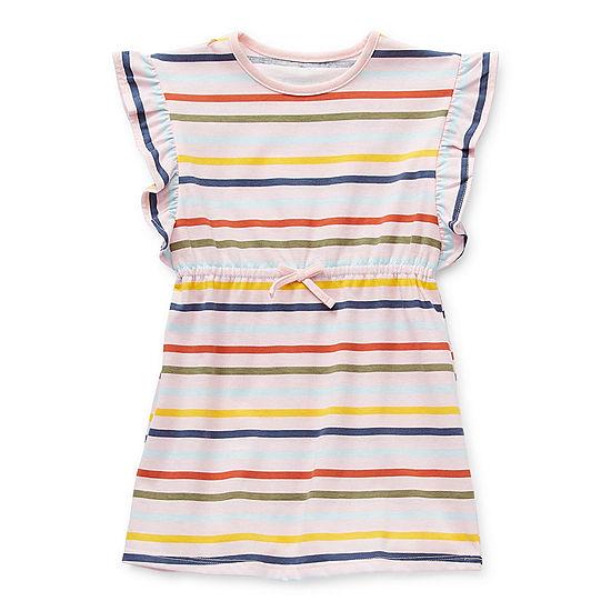 Okie Dokie Little Girls Short Sleeve Shift Dress