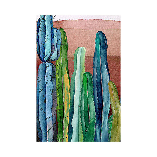 Masterpiece Art Gallery 24x36 Cactus Outdoor Canvas Art