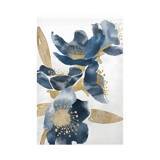 Masterpiece Art Gallery 24x36 Blue Floral Outdoor Canvas Art