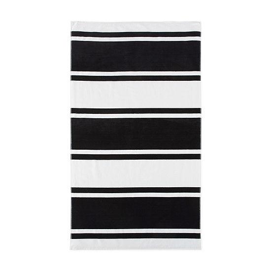 Loom  + Forge Stripe Organic Cotton Jacquard Beach Towel