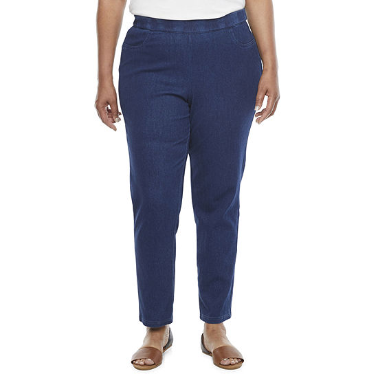 Alfred Dunner Lazy Daisy Womens Straight Jeggings - Plus