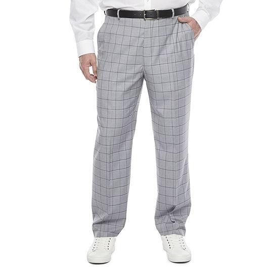 JF J.Ferrar Ultra Comfort Mens Windowpane Classic Fit Suit Pants - Big and Tall