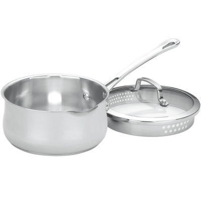 Cuisinart® Contour 2-qt. Stainless Steel Spouted Saucepan with Lid