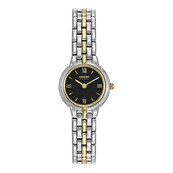 Citizen Corso Womens Two Tone Stainless Steel Bracelet Watch - Ew9334-52e