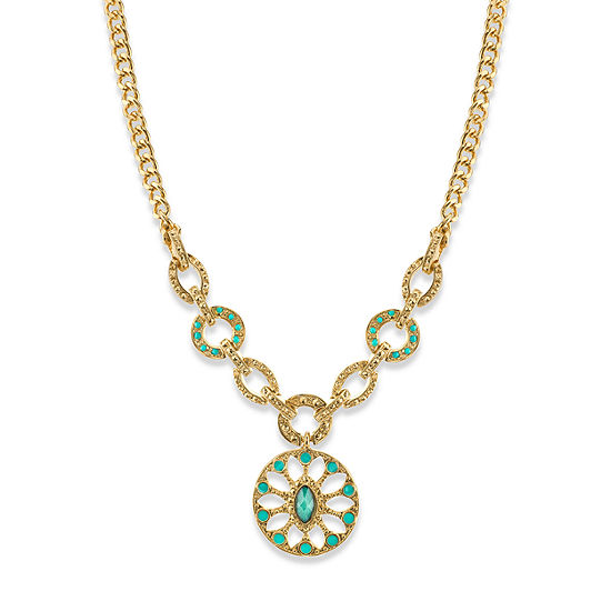 1928 16 Inch Curb Statement Necklace
