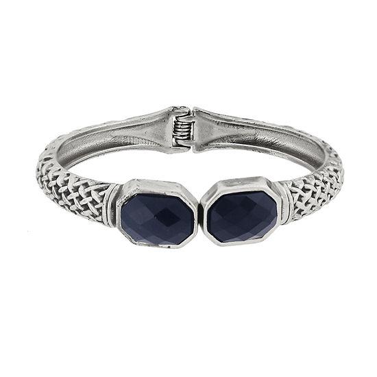 1928 Silver Tone Bangle Bracelet