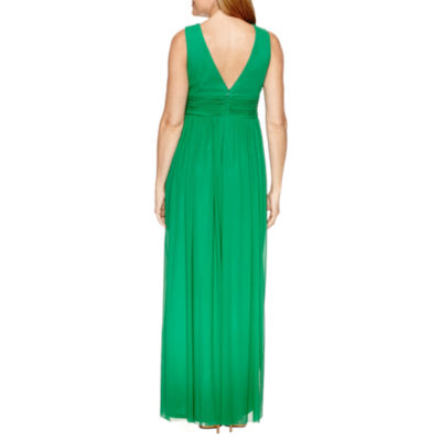 Blu Sage Sleeveless Evening Gown-Petites