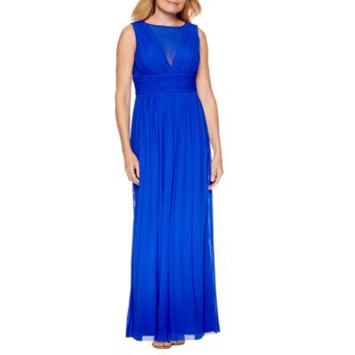 Blu Sage Sleeveless Evening Gown-Petite