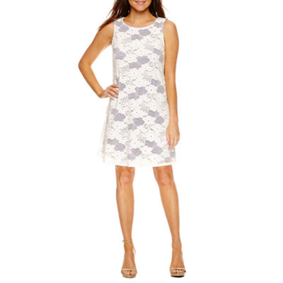 Tiana B Sleeveless Trapeze Dress-Petite