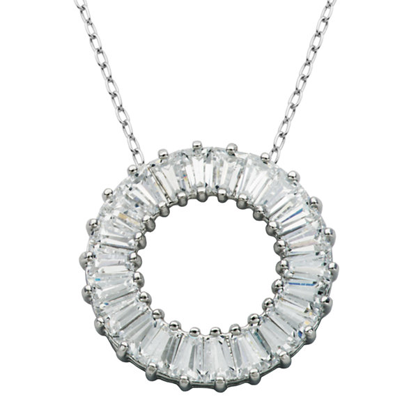 DiamonArt® Sterling Silver Cubic Zironcia Necklace