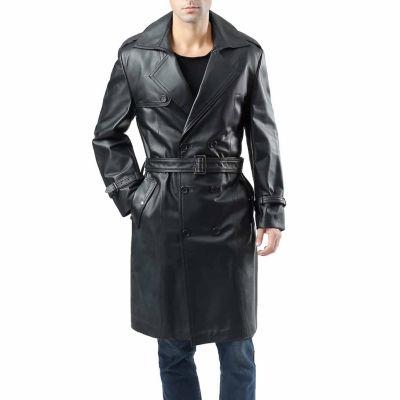 Momo Baby Xander Leather Trench Coat