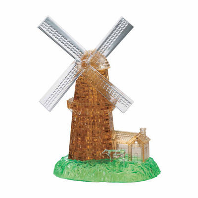 BePuzzled 3D Crystal Puzzle - Windmill: 64 Pcs