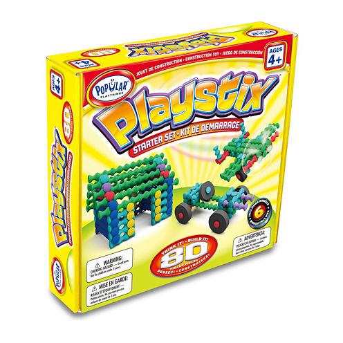 Popular Playthings Playstix Starter Set: 80 Pcs